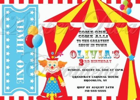 Carnival Birthday Party Invitations Ideas – FREE Printable