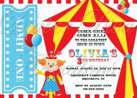 Carnival Birthday Party Invitations Ideas – FREE Printable