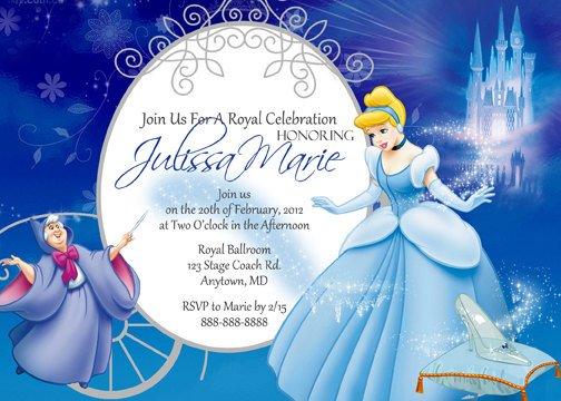 cinderella invitations birthday free