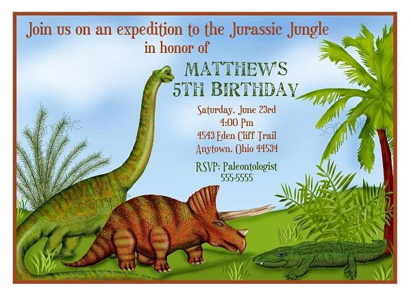 dinosaur 5th birthday party invitations free printable birthday invitation templates bagvania