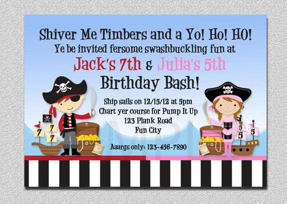 pirate birthday party invitations