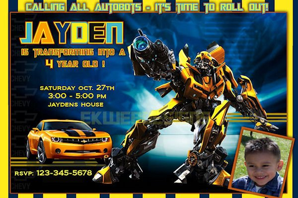 graphic regarding Transformer Birthday Invitations Printable Free titled Transformers Birthday Invites - Anarchistshemale