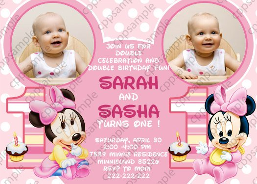twin birthday invitations free