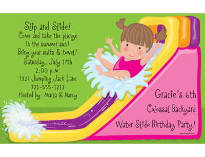 water slide birthday invitations free