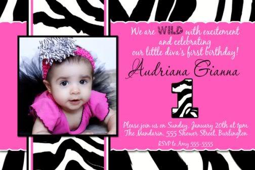 Zebra And Pink Birthday Invitations Ideas Bagvania Free