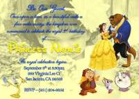 Beauty and the Beast Birthday Party Invitation Ideas ...