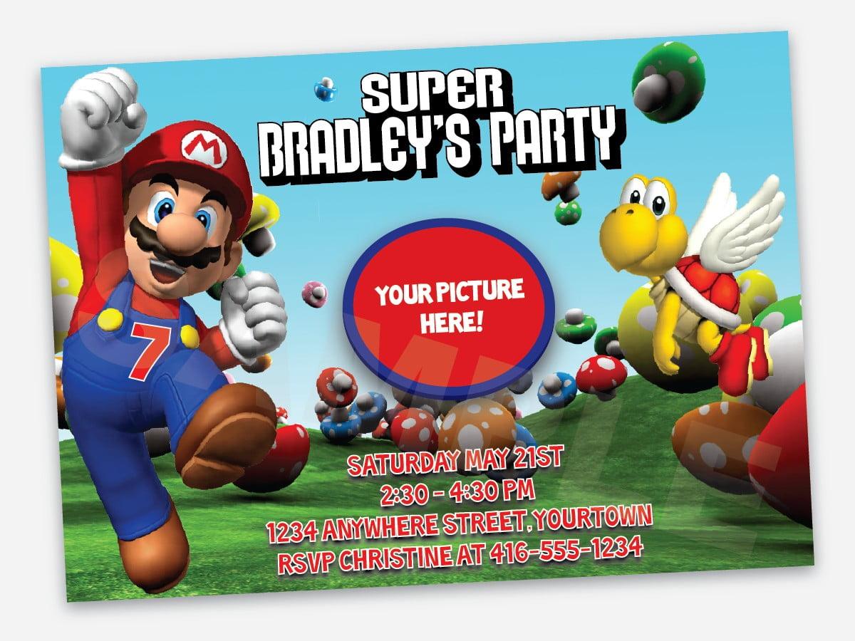 super mario birthday invitations free