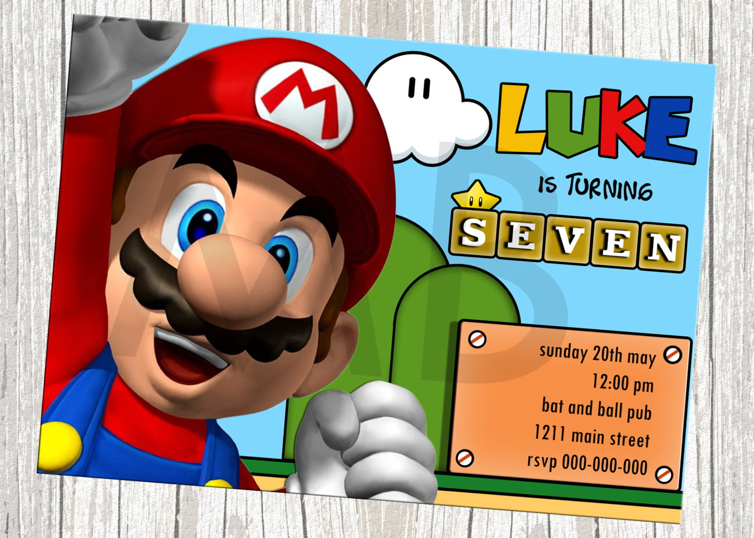 super mario birthday invitations free