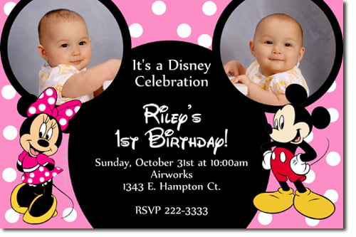 Mickey And Minnie Mouse Birthday Invitations – Bagvania