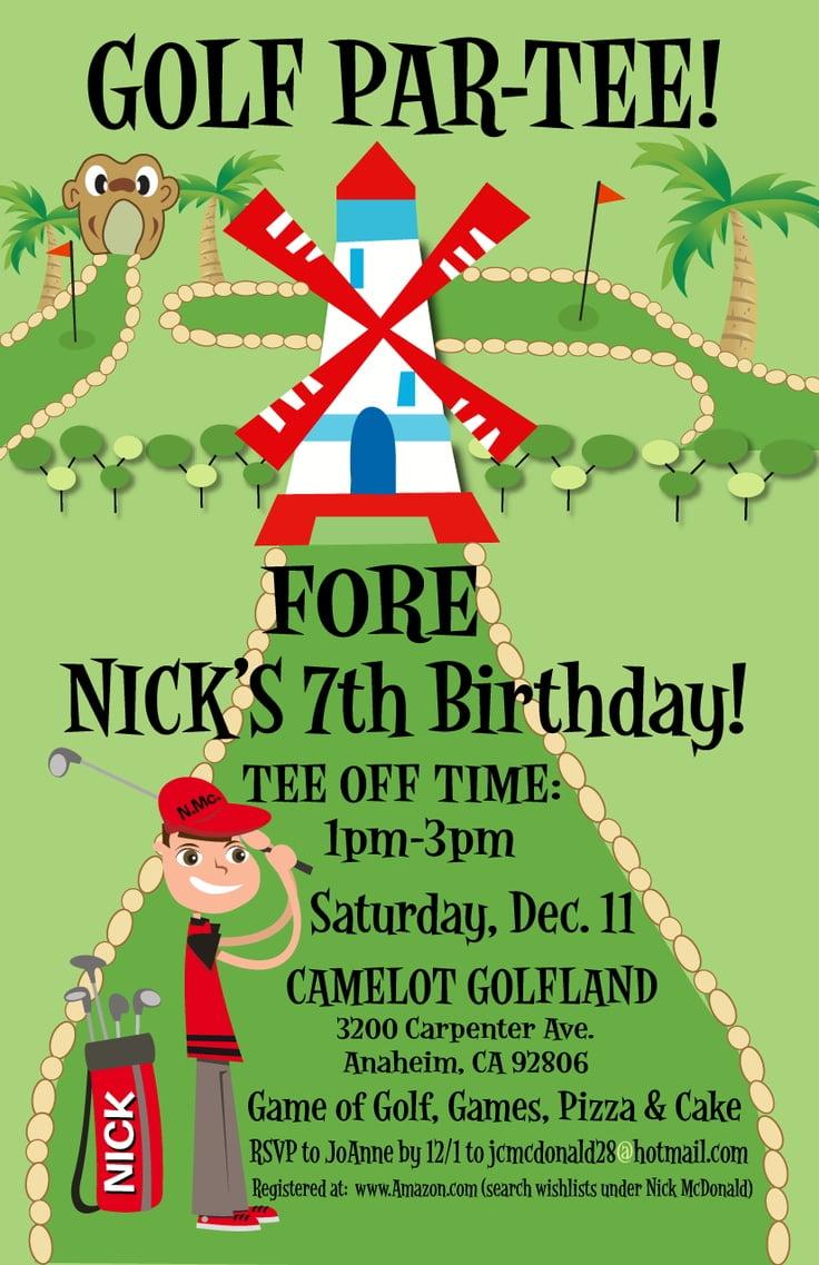 Birthday Invitations Layout