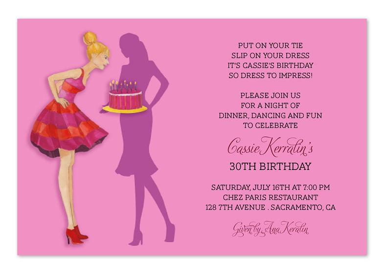 free printable 25th birthday invitation