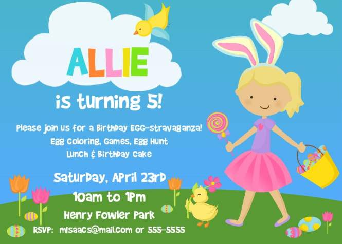 Easter birthday party invitation wording cogimbo colors free printable office birthday lunch invitation wording stopboris Image collections