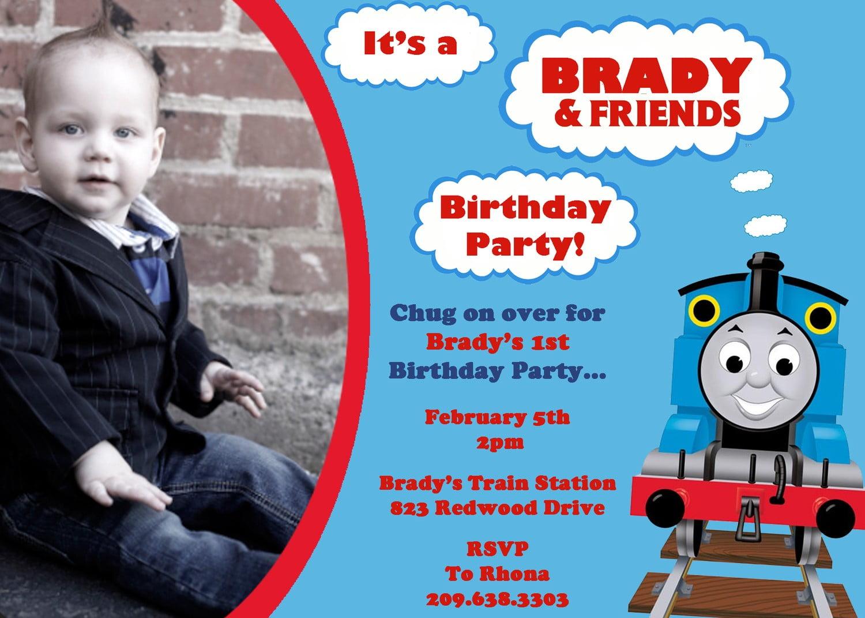 train birthday invitations ideas