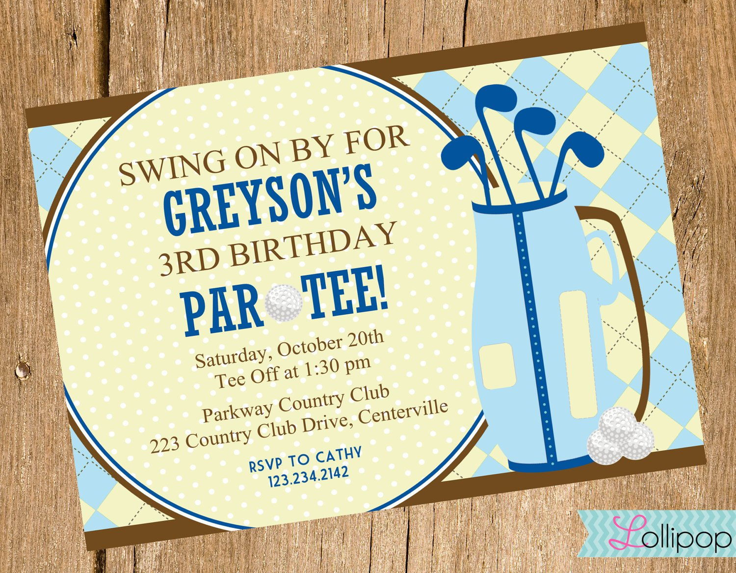 Golf Themed Birthday Invitations Ideas – Bagvania FREE