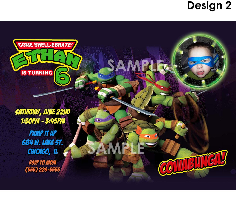 Teenage Mutant Ninja Turtle Birthday Party Invitations
