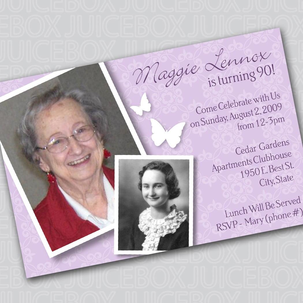 90th birthday invitation wording free