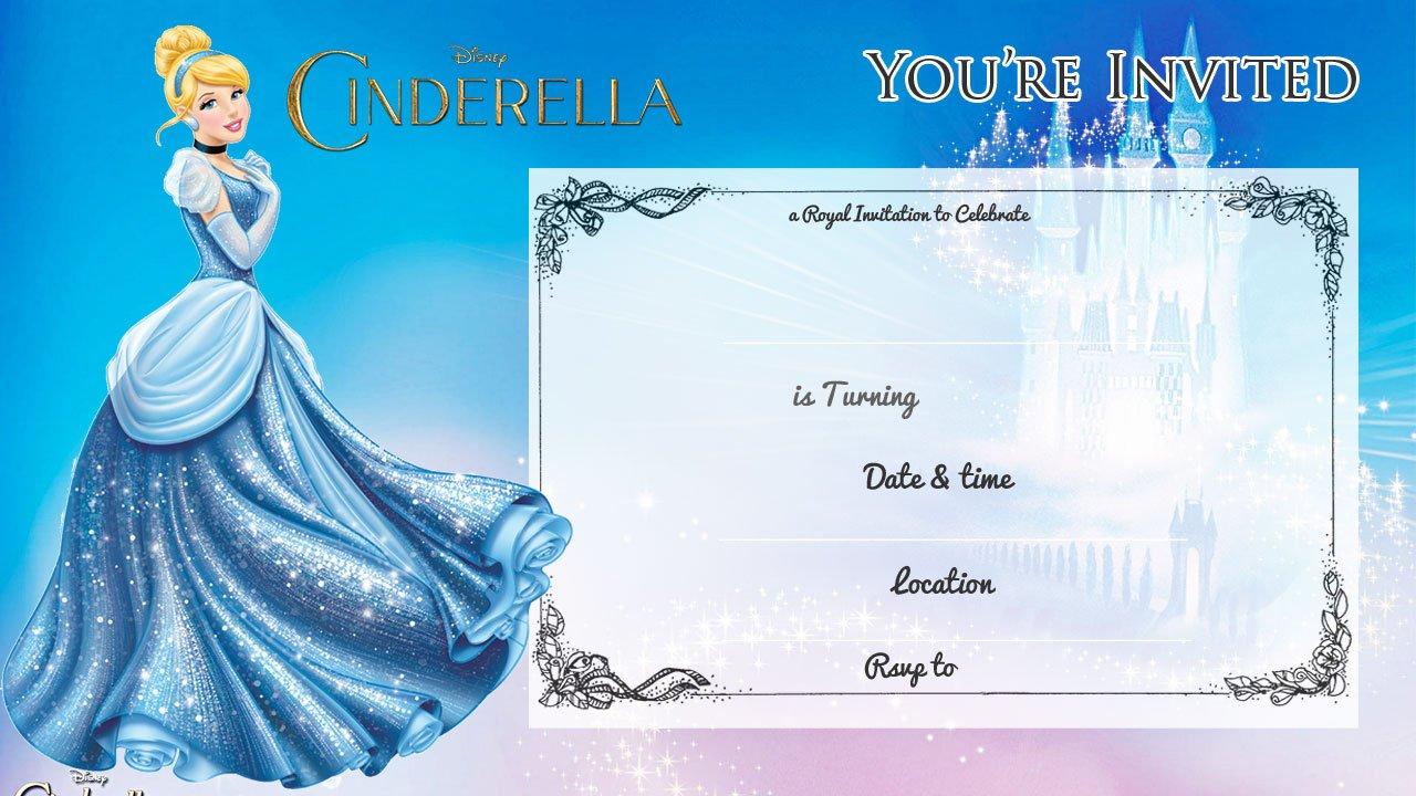 Cinderella Invitations Birthday Ideas | Top 10 Cinderella Princess ...
