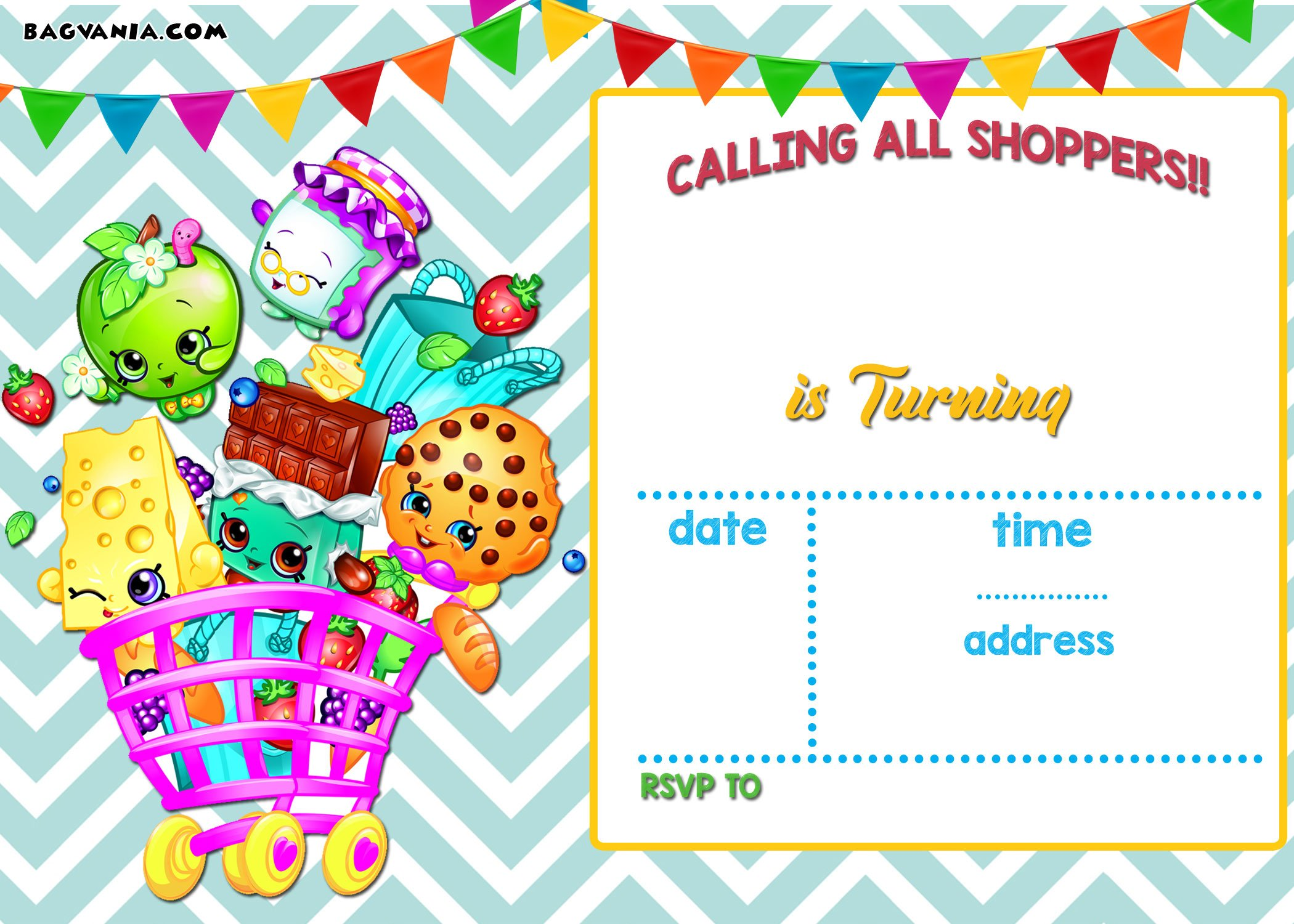 Calling All Shoppers Here Are Free Blank Shopkins Invitation Templates Bagvania Free