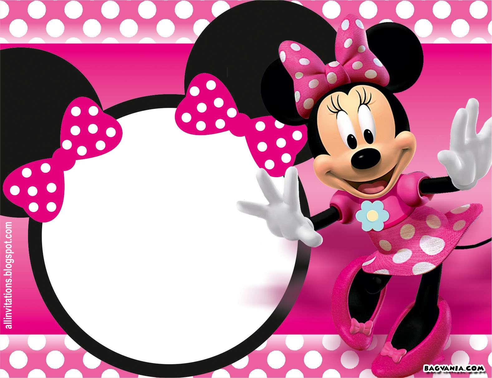 Free Printable Minnie Mouse Birthday Invitations Free Printable Birthday Invitation Templates Bagvania