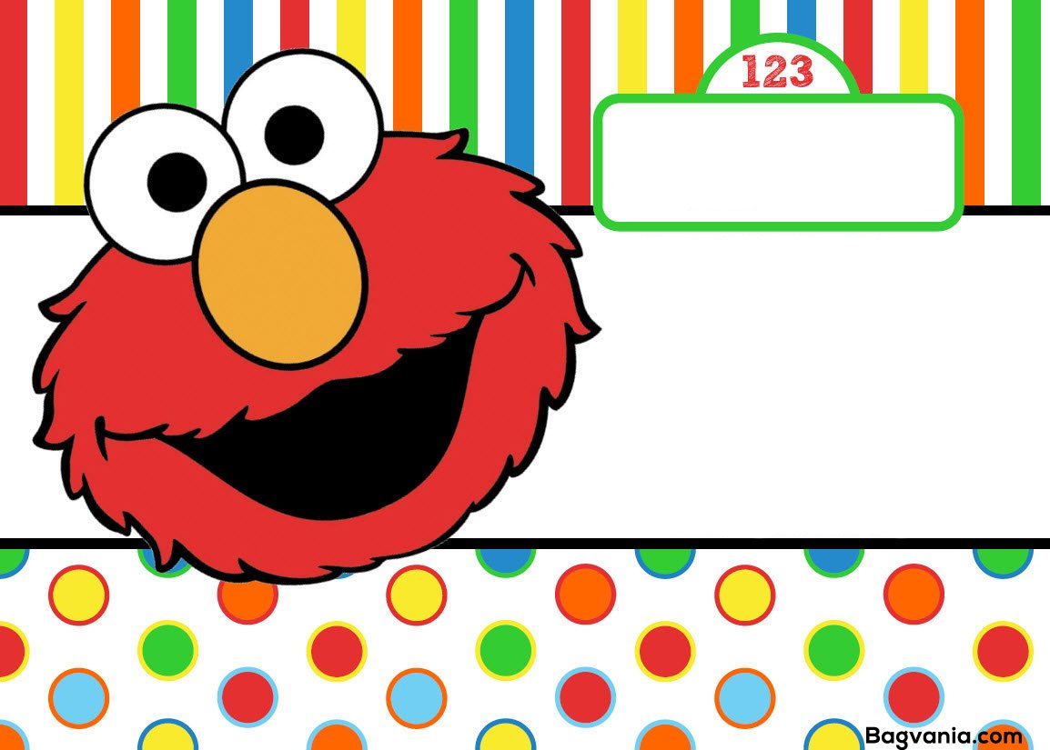 Free Printable Elmo Birthday Invitations – Bagvania FREE