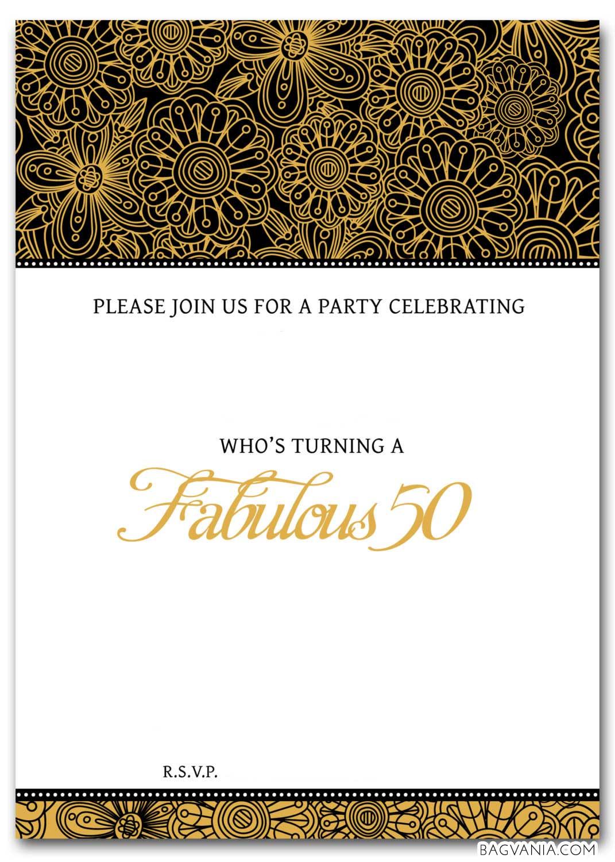 50th birthday templates free