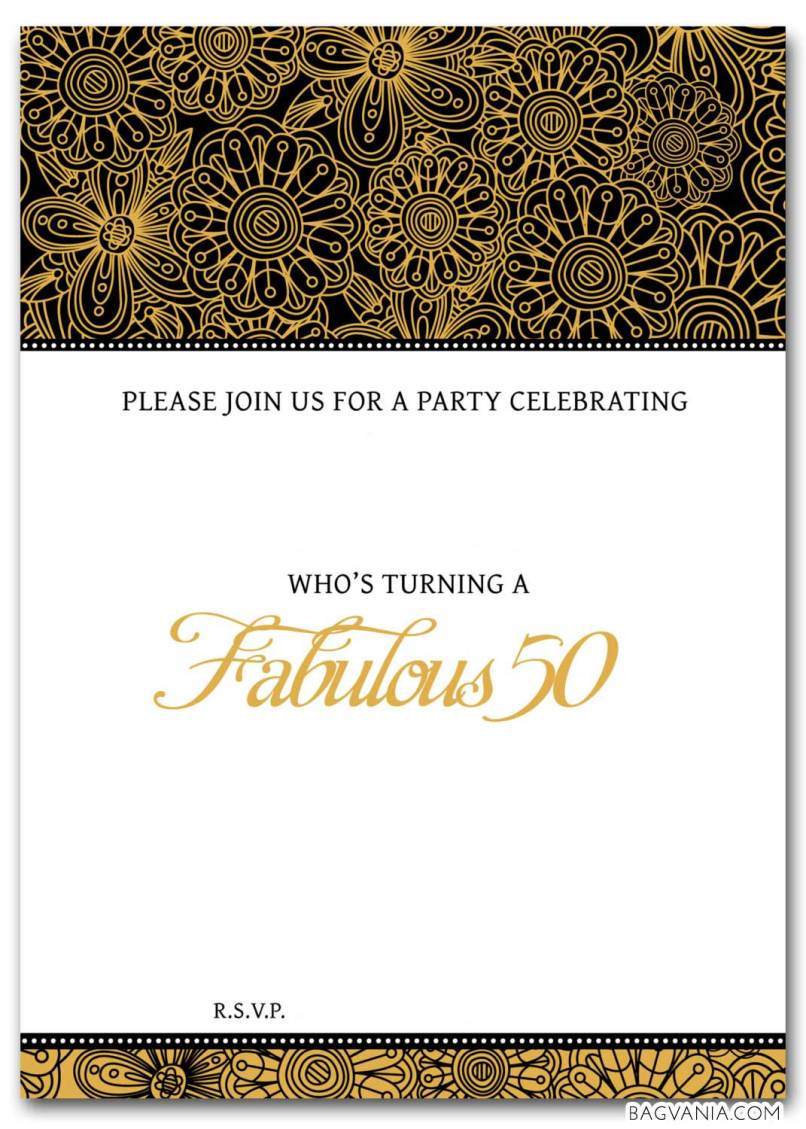 elegant surprise 50th birthday invitations. free surprise th ...