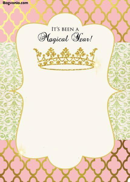 free princess birthday invitations