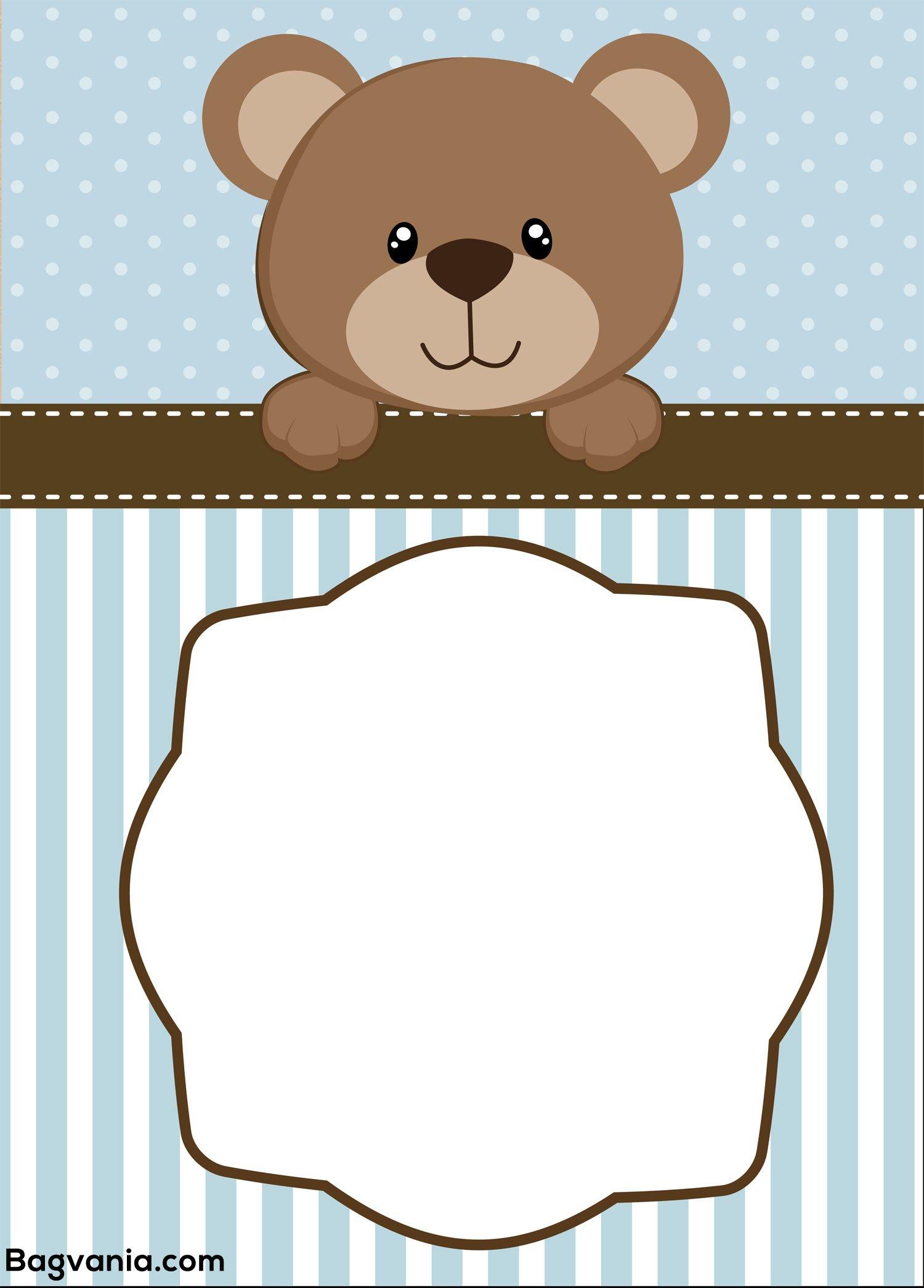 Free Teddy Bear Birthday Invitation Templates Bagvania