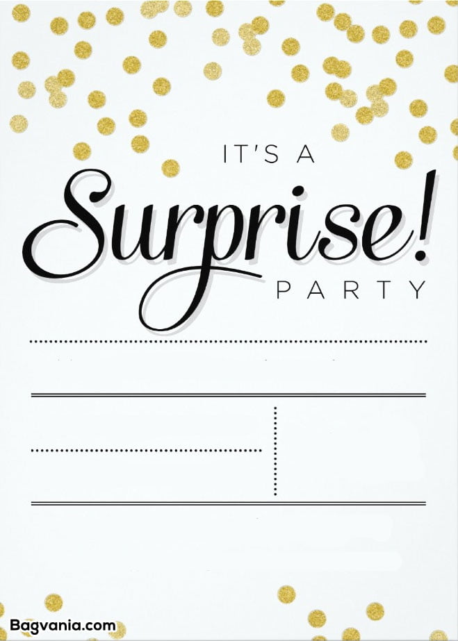 surprise birthday templates