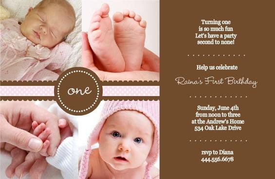 1st birthday invitation wording and