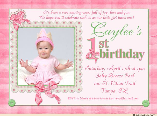 free printable 1st birthday invitations
