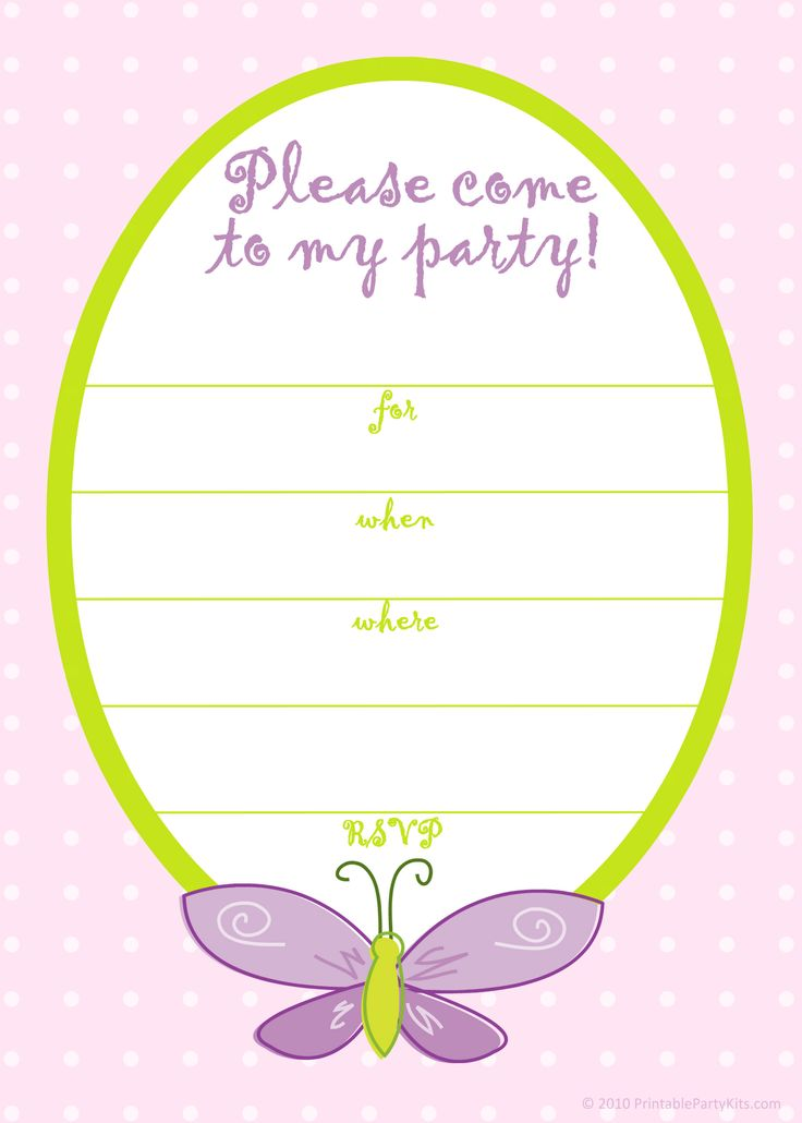 butterfly birthday invitations template