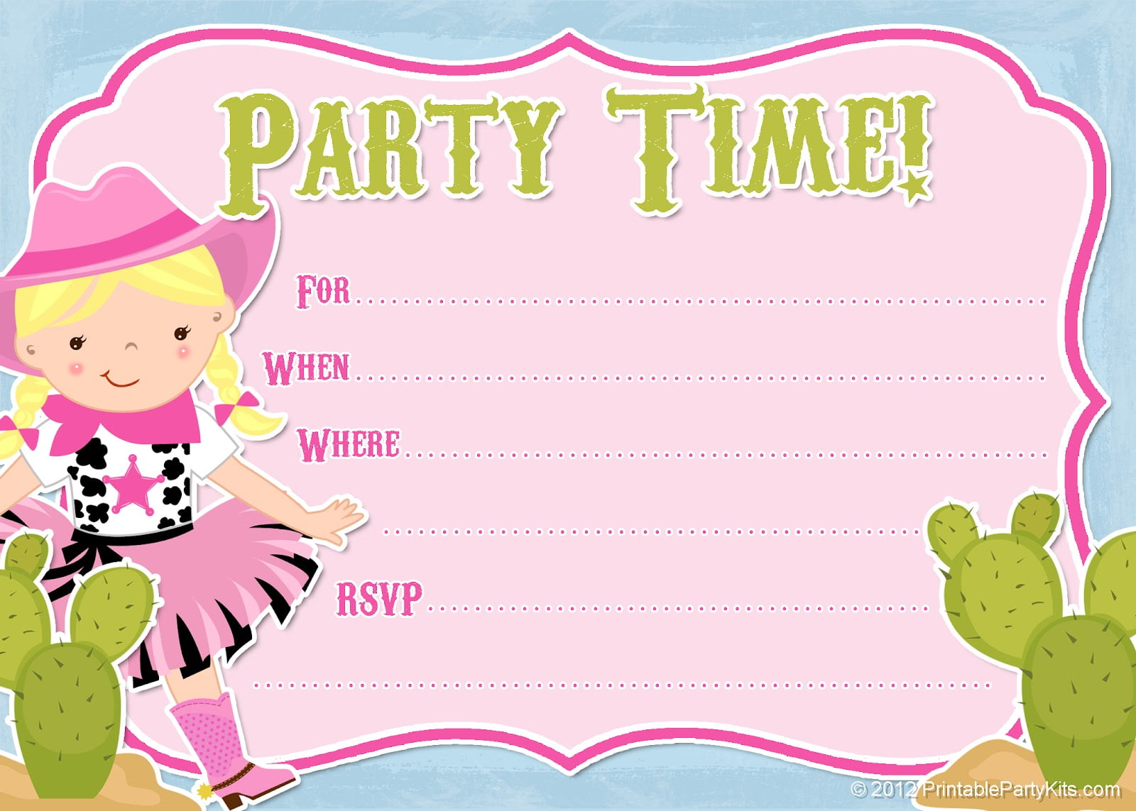 Online Printable Invitations