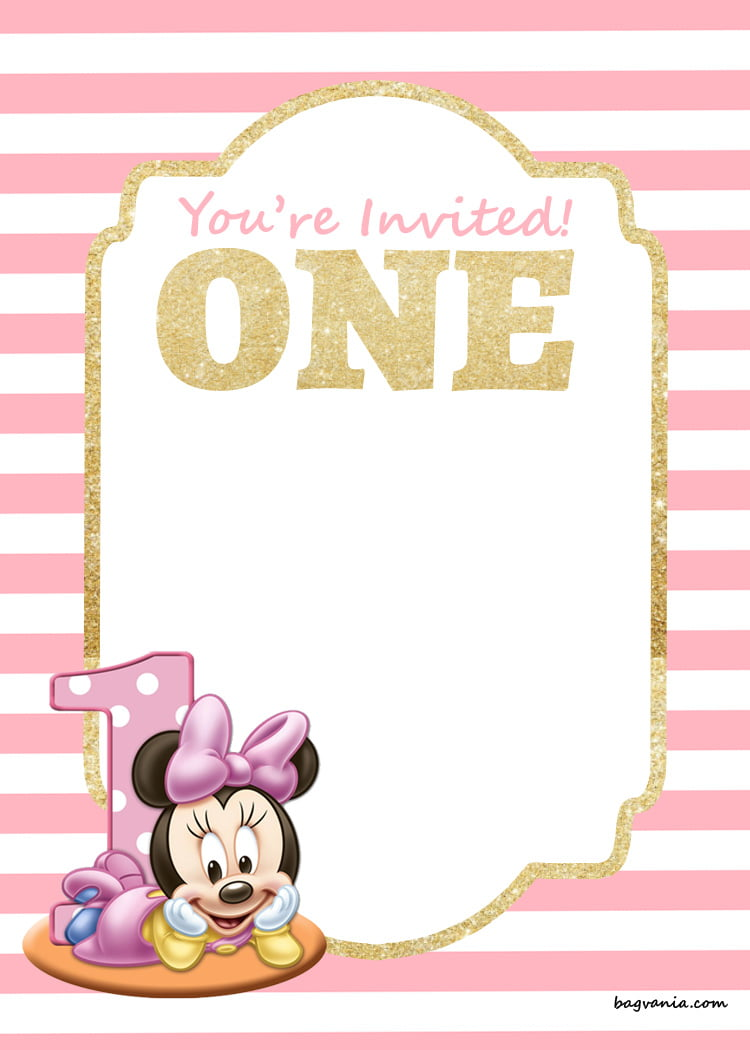 free mickey mouse 1st birthday