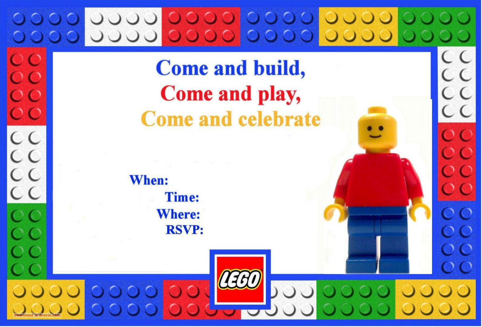 FREE Lego Birthday Invitations Bagvania FREE Printable