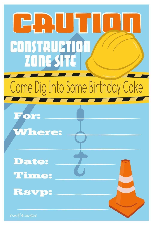 free printable construction birthday