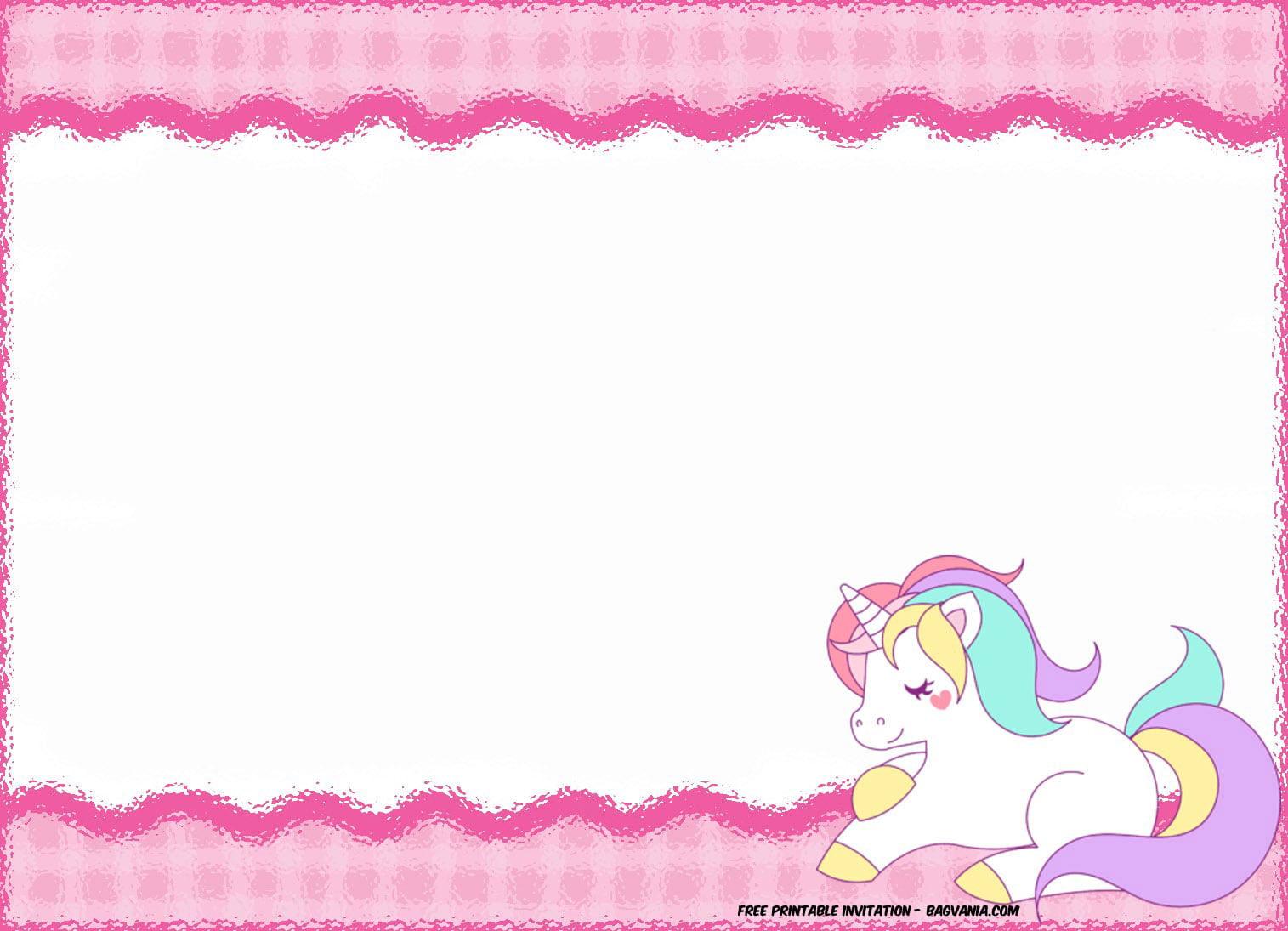 Free Printable Unicorn Birthday Invitation Template Free