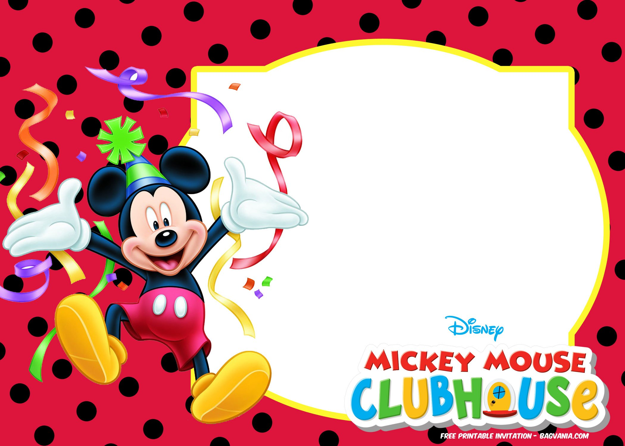 free mickey mouse invitation templates