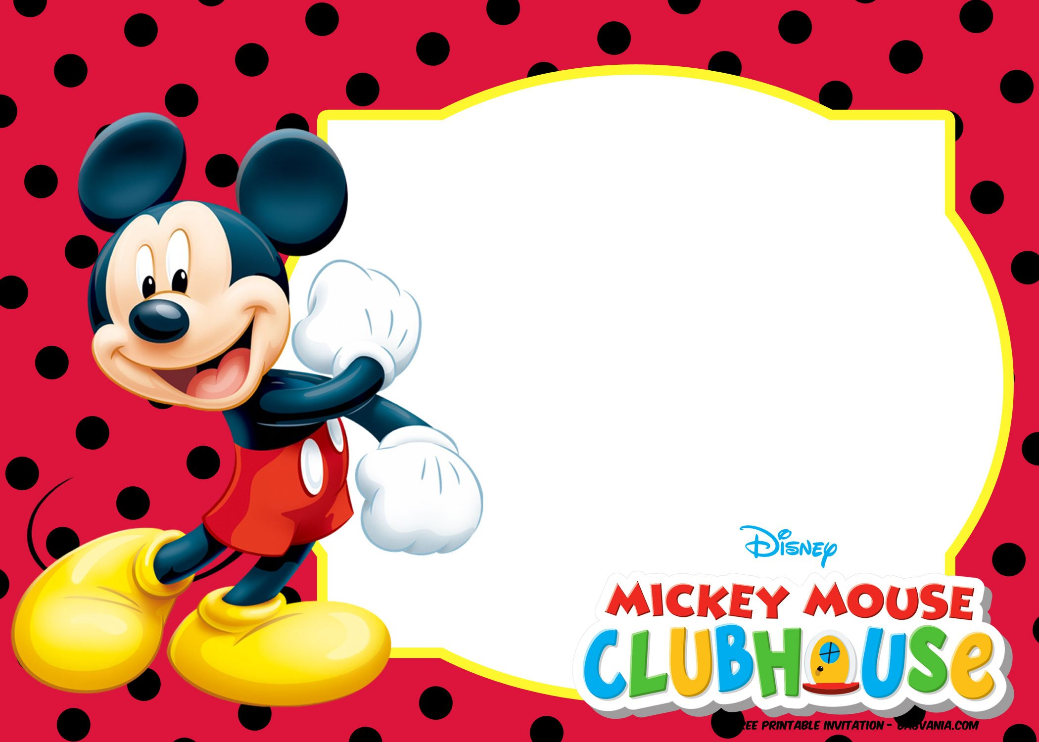 invitation mickey mouse