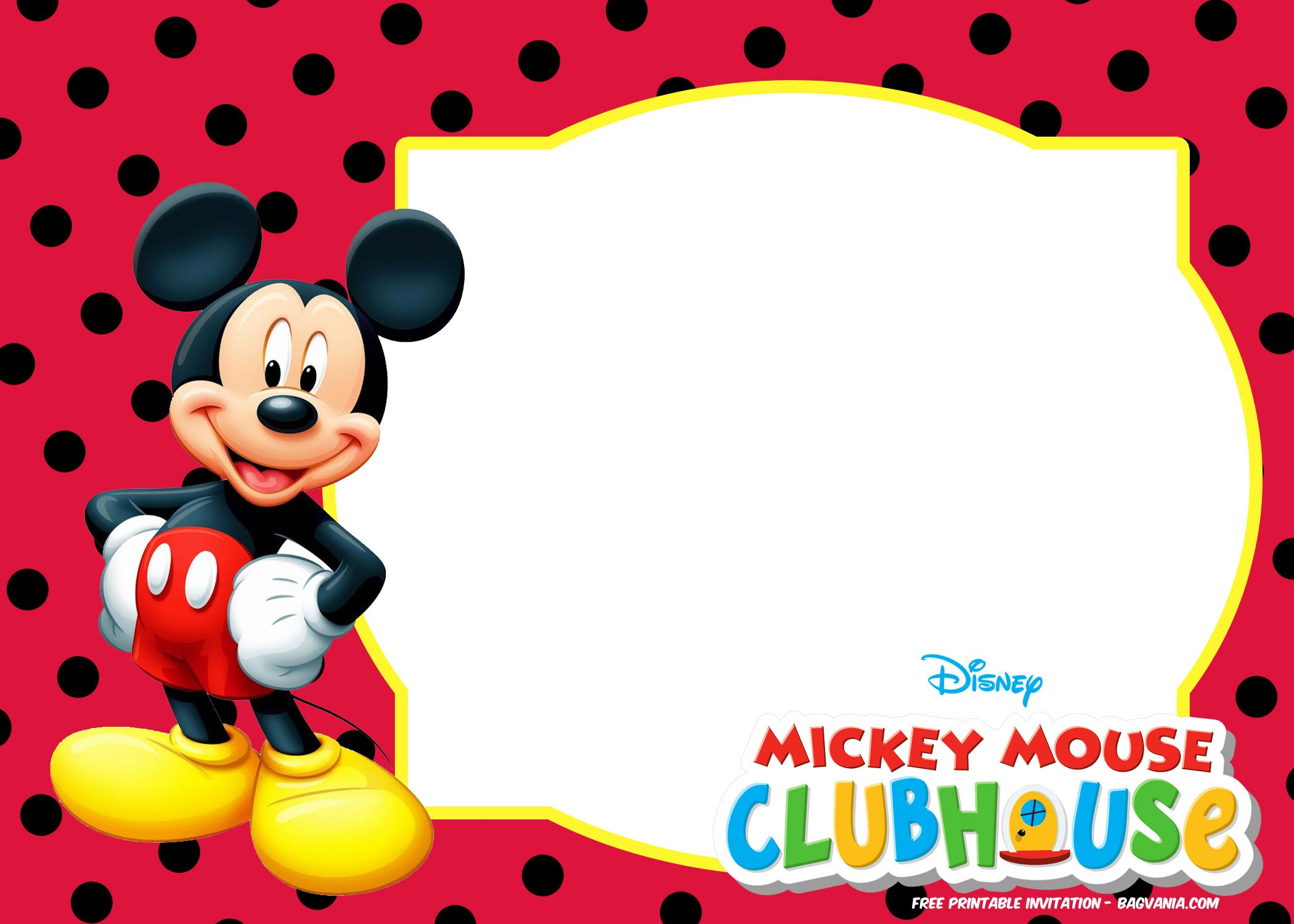 printed mickey 1st birthday invitations