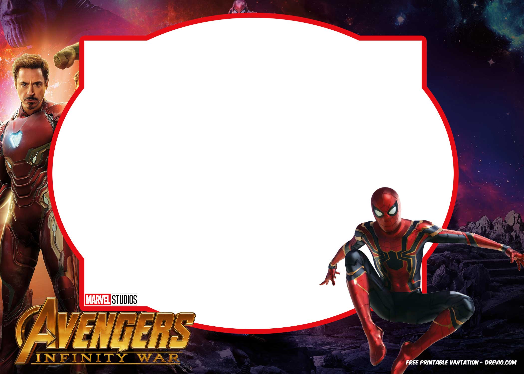 FREE Avengers Infinity Wars Invitations Template