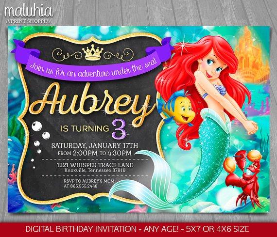 free printable ariel little mermaid