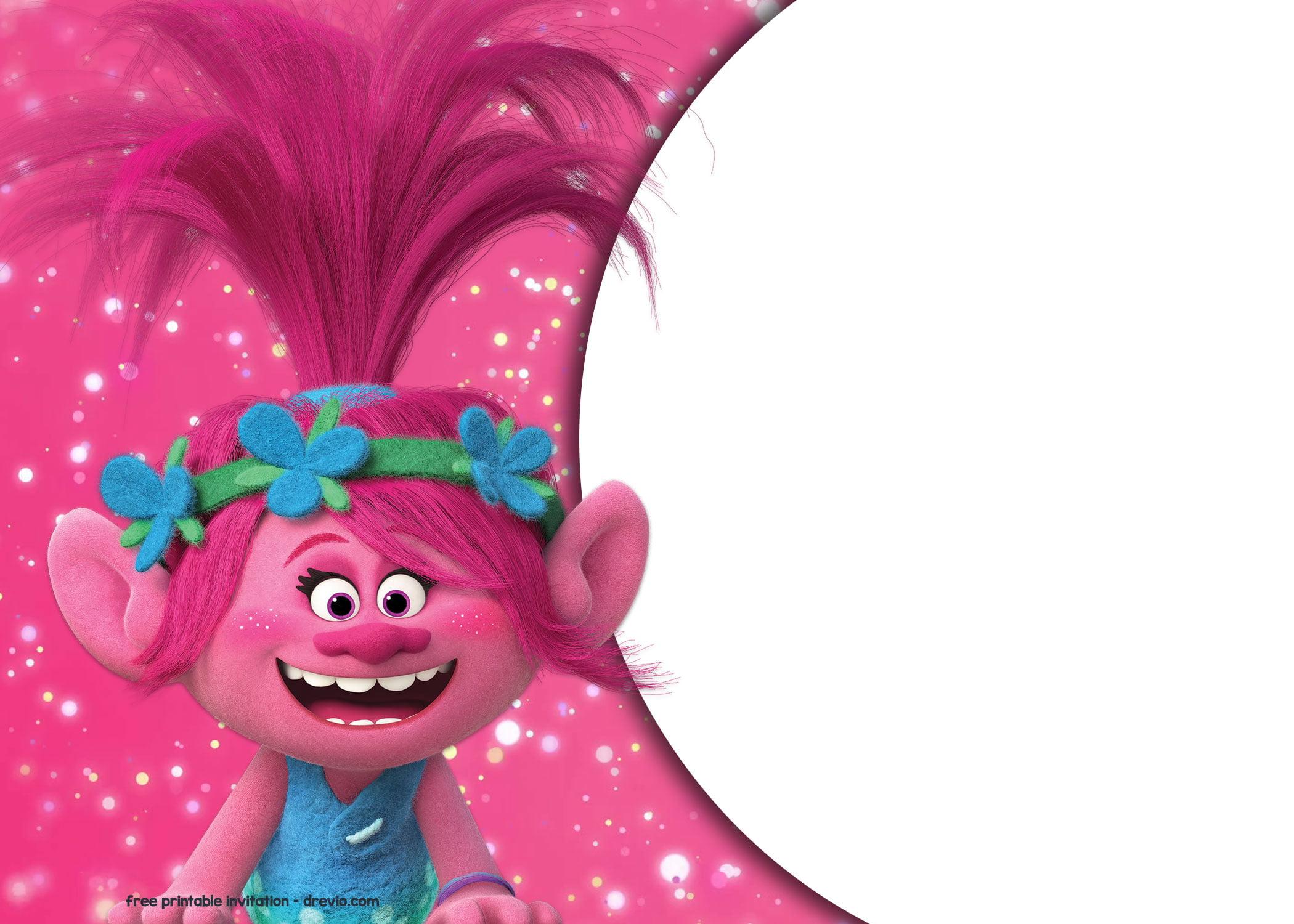 FREE Trolls Birthday Invitation Templates – FREE Printable