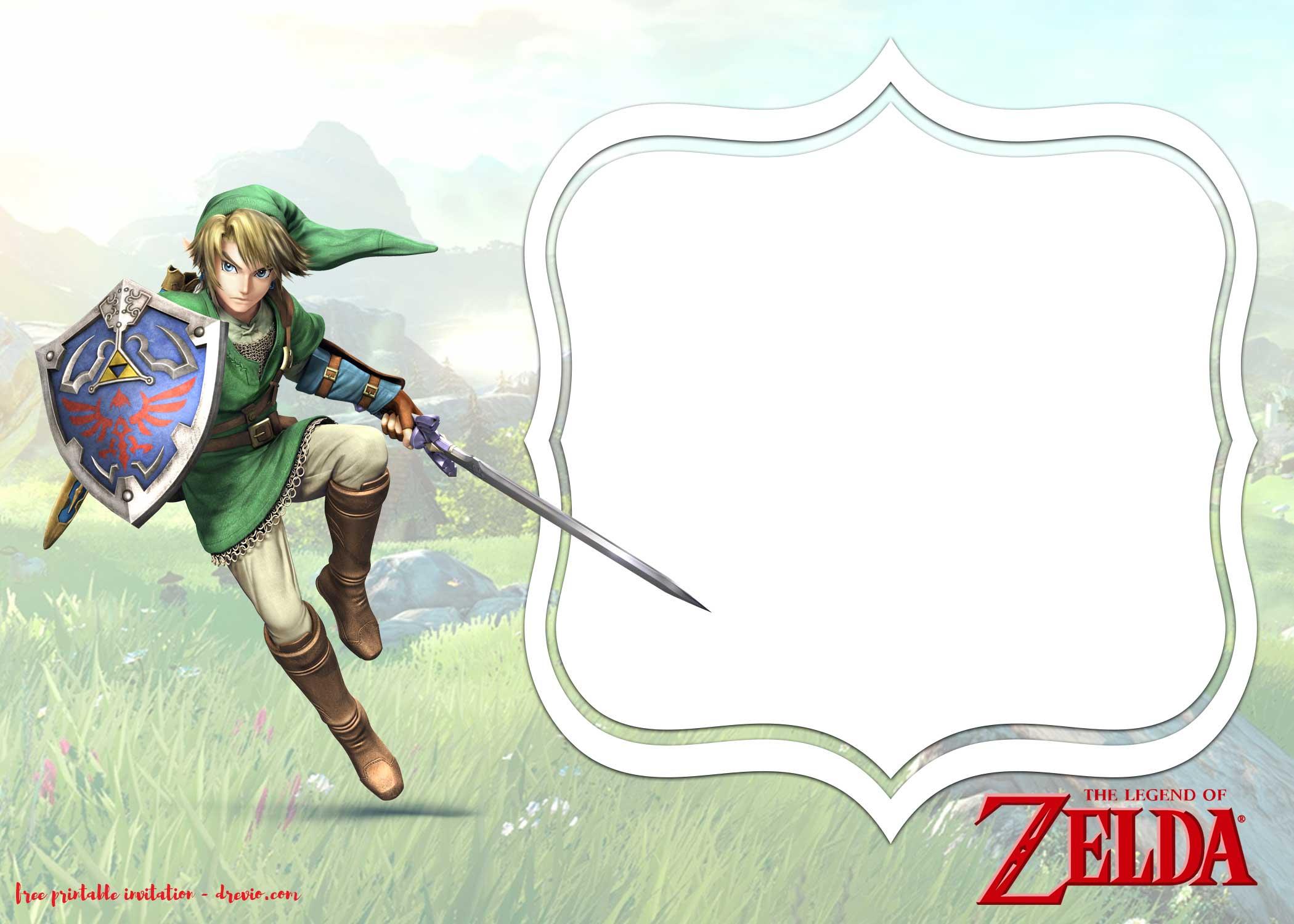 FREE Legend Of Zelda Birthday Invitation Templates FREE Printable Birthday Invitation