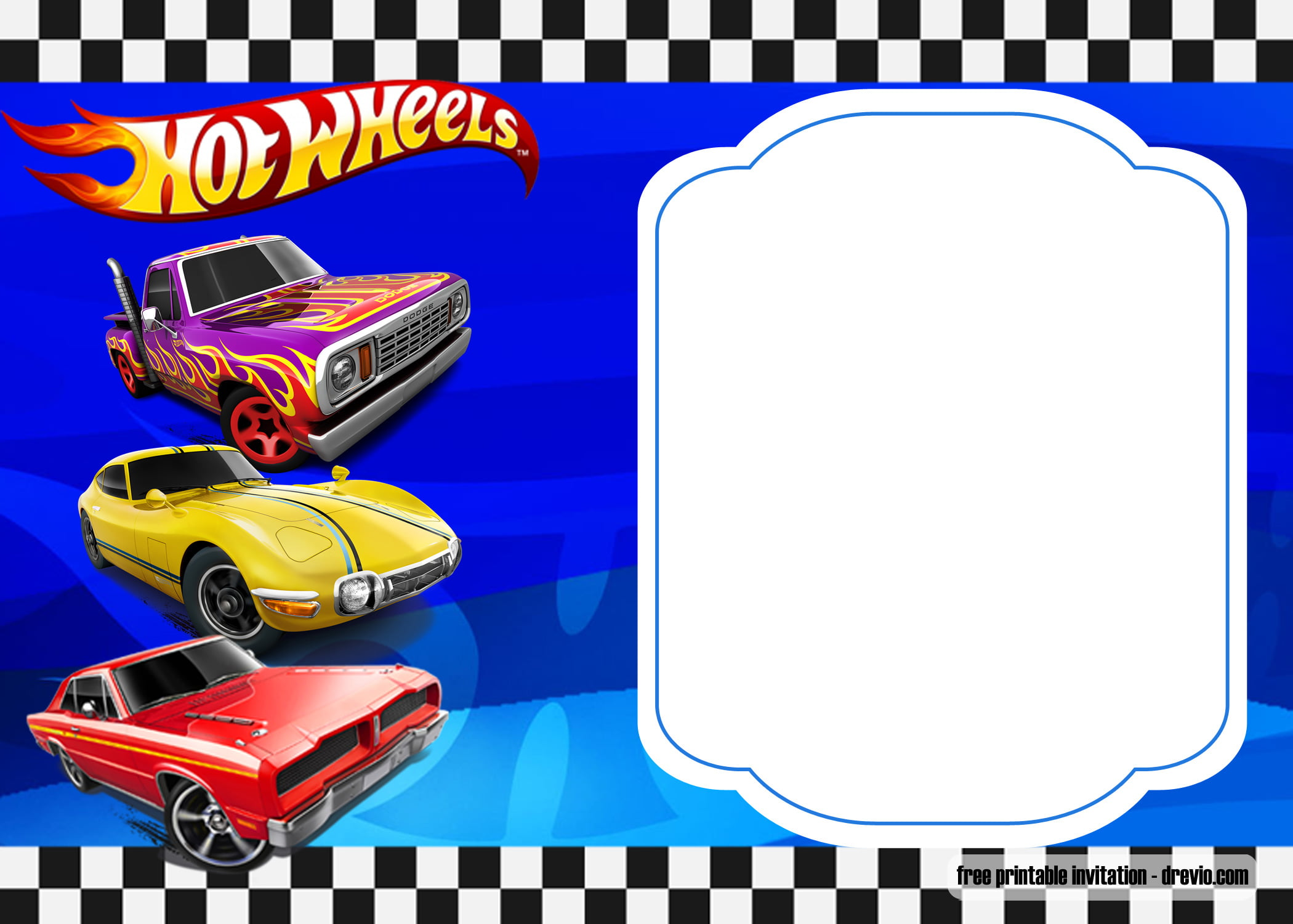 FREE Hot Wheels Invitations Templates FREE Printable Birthday Invitation Templates Bagvania