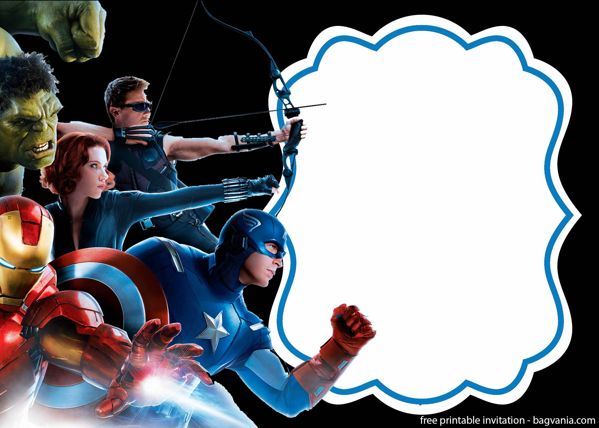 avengers invitation template