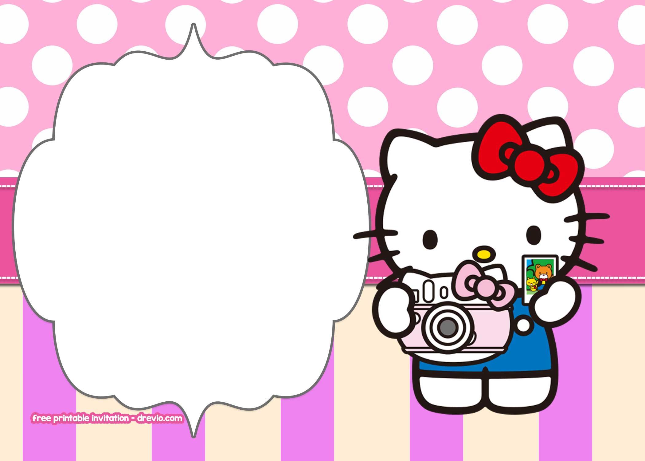 free hello kitty birthday invitation