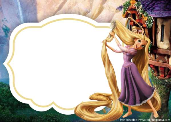 Rapunzel Invitation Instant Download Birthday Invitations Template Free