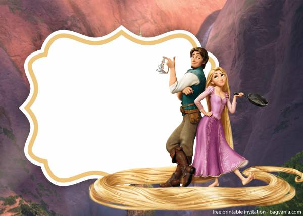 Tangled Party Invitation Template