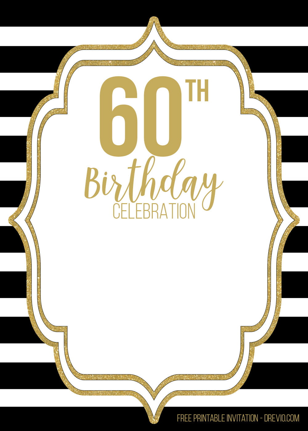 free 60th black golden birthday